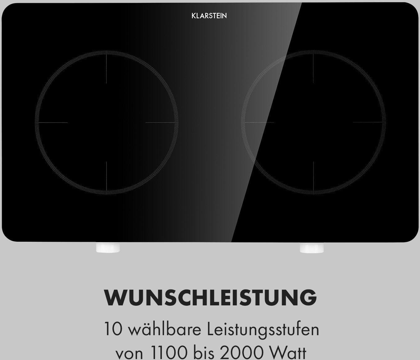 Klarstein FutureChef, płyta indukcyjna dwupalnikowa, podwójna, 3000W, 2 pola grzejne
