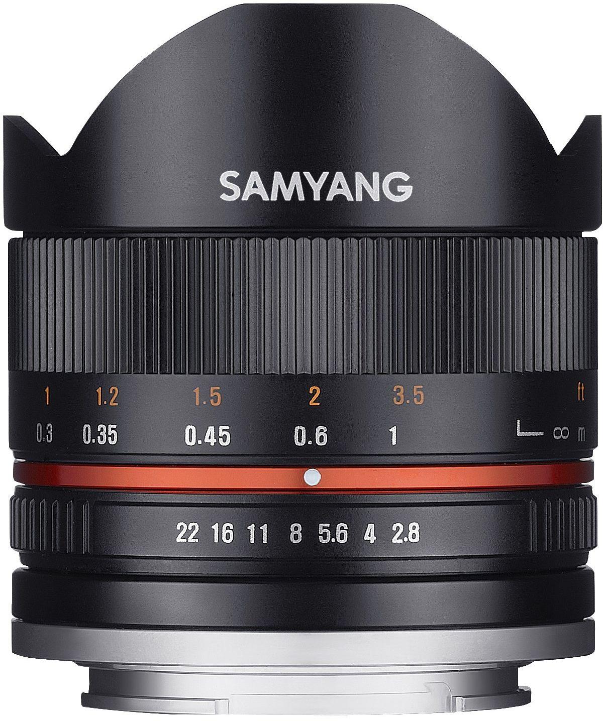 Samyang 8 mm F2.8 II rybie oko ręczna soczewka ostrości do Sony-E - czarna