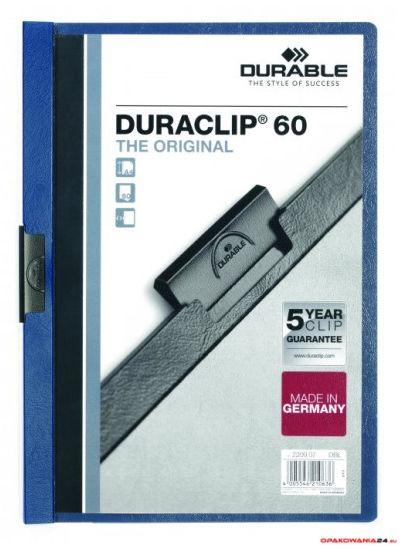 Skoroszyt DURABLE DURACLIP Original 60 granatowy 2209-07