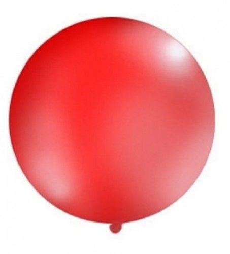 Balon Gigant 1m, czerwony pastel