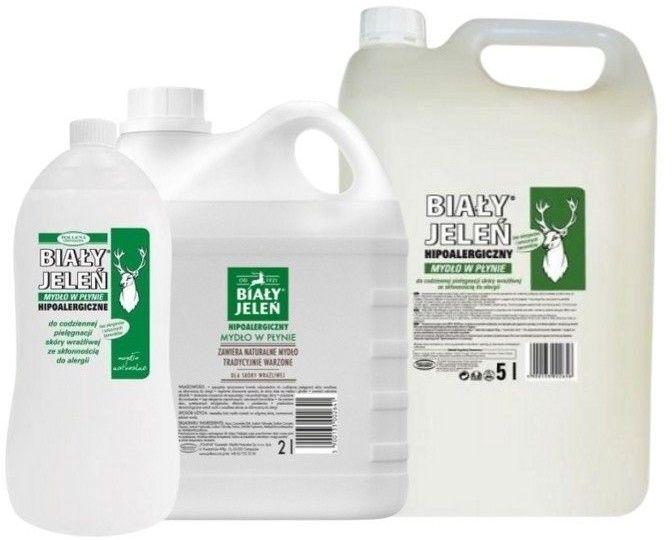 BIAŁY JELEŃ Mydło w płynie Szare Mydło, 1000 ml