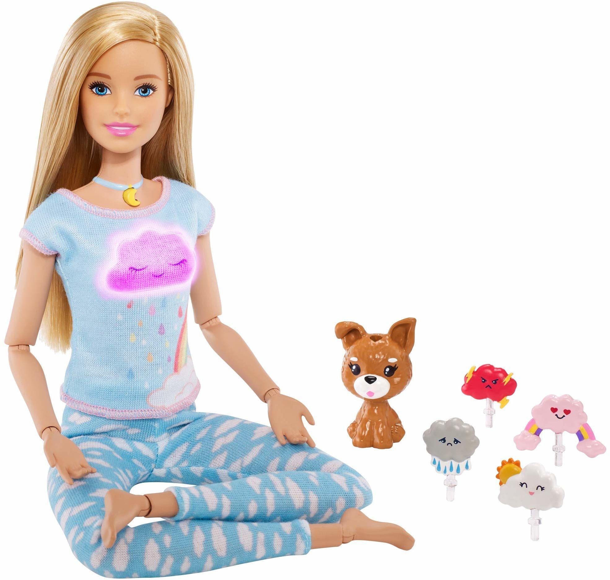 Barbie GNK01 , Lalka Medytacja Z Dźwiękami I Światełkami Gnk01 ,wielokolorowa