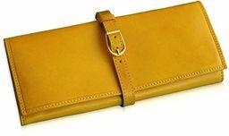 Adriatica Pelletteria szkatułka na biżuterię ze skóry, ręcznie wykonana, żółta