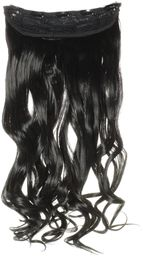 hair2heart Clip in Extensions, waga włosów 130 g, falowane, 1 czarny