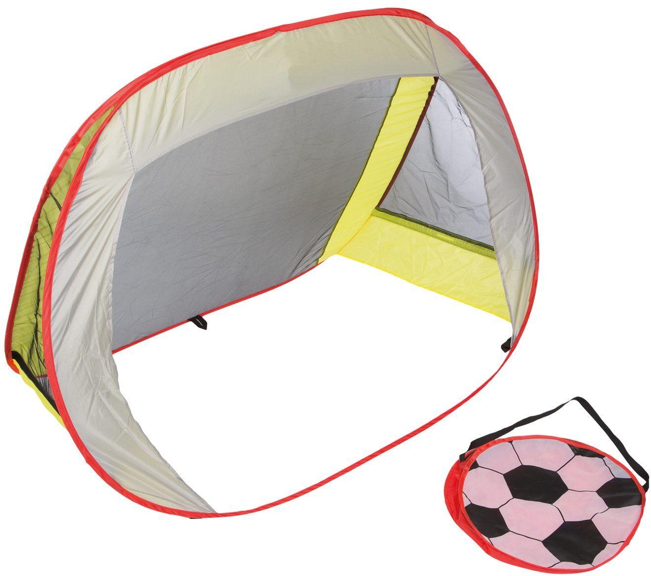 Idena 40463  bramka do piłki nożnej Pop Up z torbą do noszenia, łatwy transport, ok. 1,3 x 0,96 x 0,8 cm, idealna do ogrodu, na boisku lub do parku
