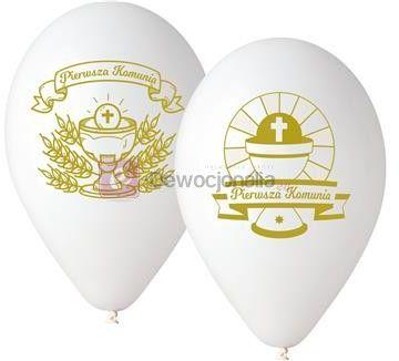 Balony dekoracyjne Komunia Święta 30 cm, 5 szt