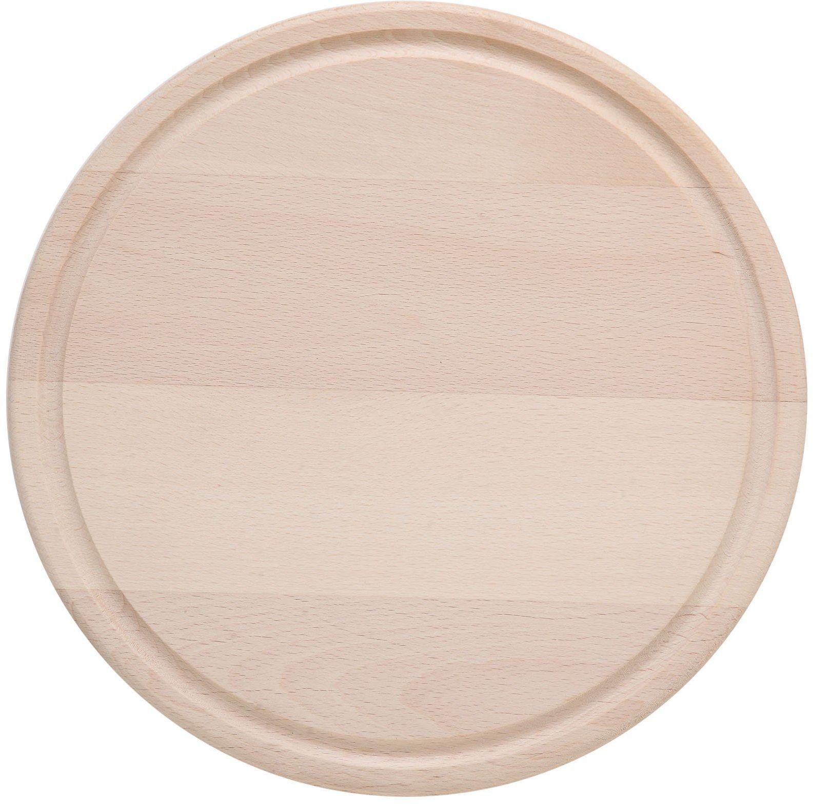 Eliplast 610/1 okrągła deska do krojenia drewna, 24 x 1,5 cm szara