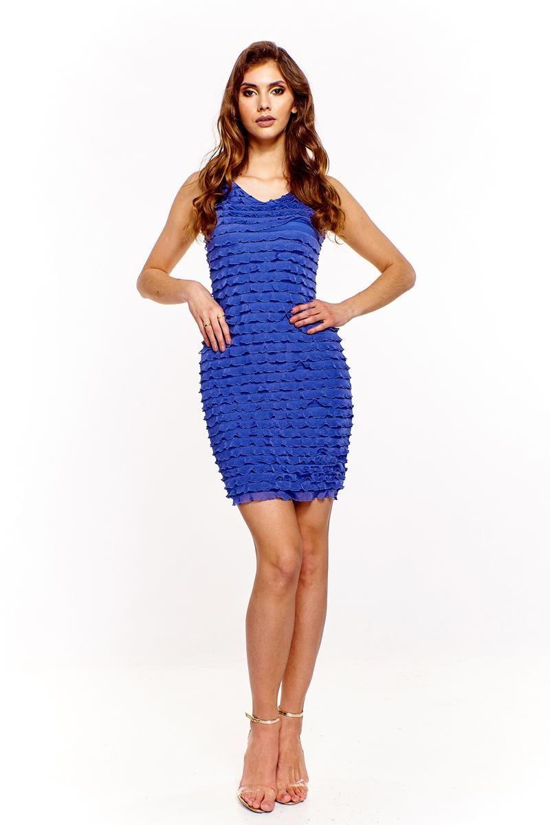 Sukienka FSU194 CHABROWY JASNY