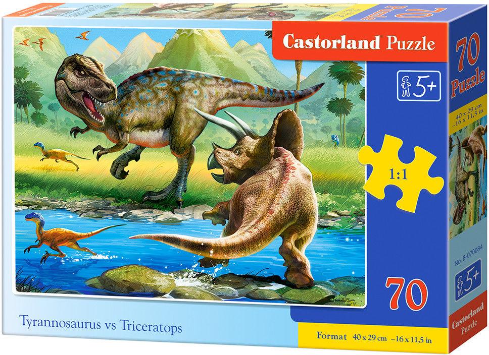 Puzzle Castor 70 - Tyrannosaurus vs Triceratops