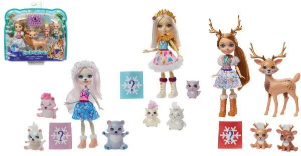 Enchantimals - Rodzina Misi Polarnych Lalka Pristina Polar Bear i trzy misie GJX47
