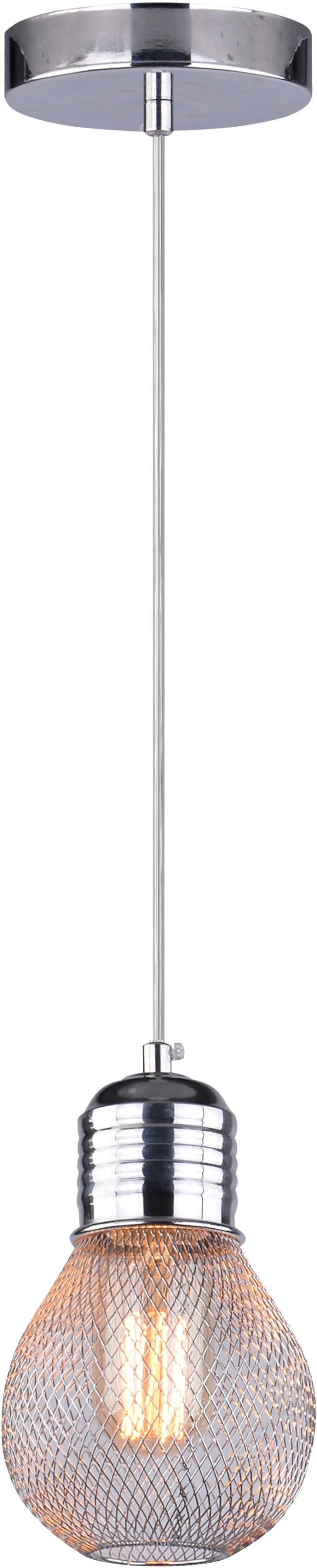 Candellux GLIVA 31-58652 lampa wisząca chrom siatka 1X60W E27 10cm