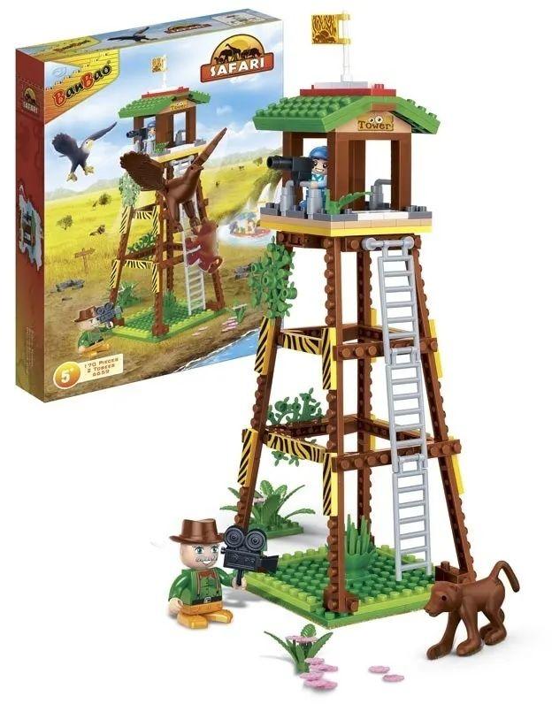Klocki BanBao 6659 Safari wieża obserwacyjna