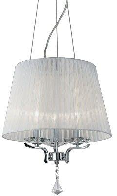 Lampa wisząca Pegaso SP3 059235 Ideal Lux biała oprawa w klasycznym stylu