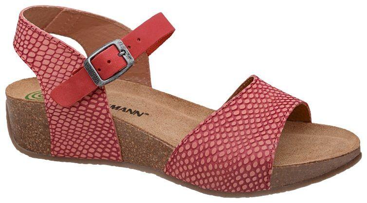 Sandały Dr Brinkmann 711012-4 Koralowe Rot Naturform Fussbett