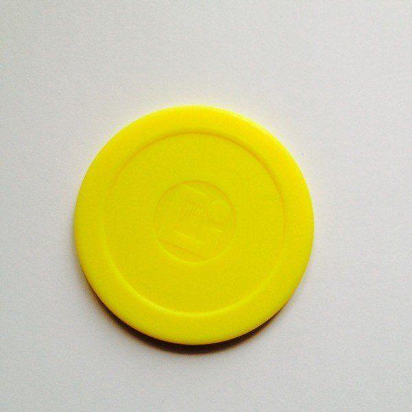 Oryginalny krążek WIK do air hockey''a - żółty