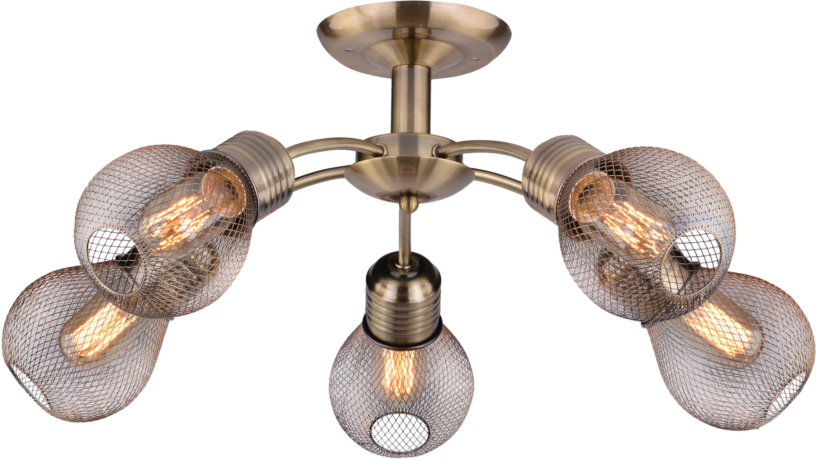 Candellux GLIVA 35-56603 plafon lampa sufitowa patyna 5X60W E27 62cm