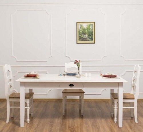 Stół z szufladą 160x90