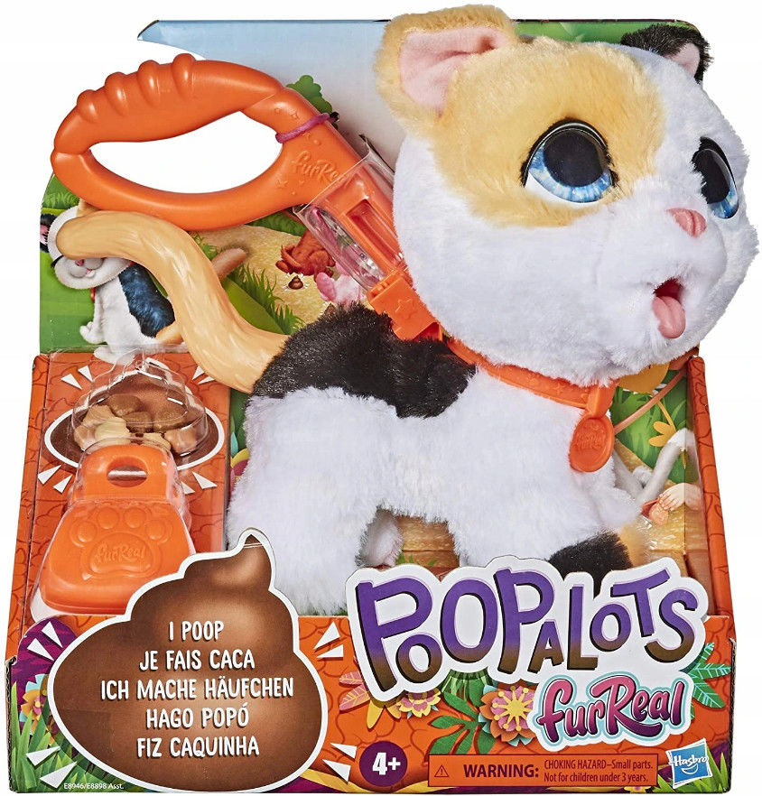 Hasbro FurReal Friends - Duże zwierzaki na smyczy Peealots Kotek E8946
