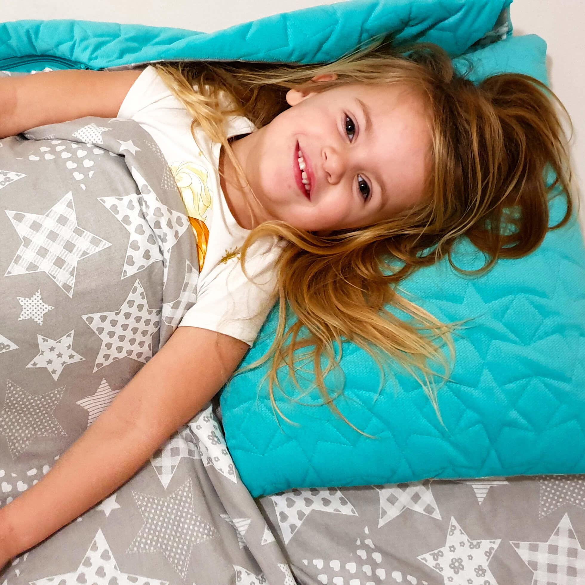 Śpiworek przedszkolaka  pościel do przedszkola Duże Gwiazdy  - velvet