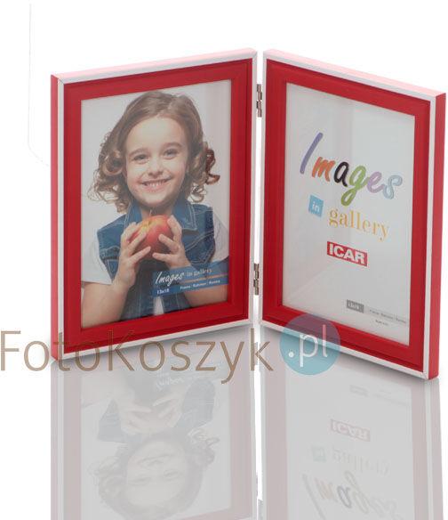 Ramka Icar czerwona (na 2 zdjęcia 13x18 cm)