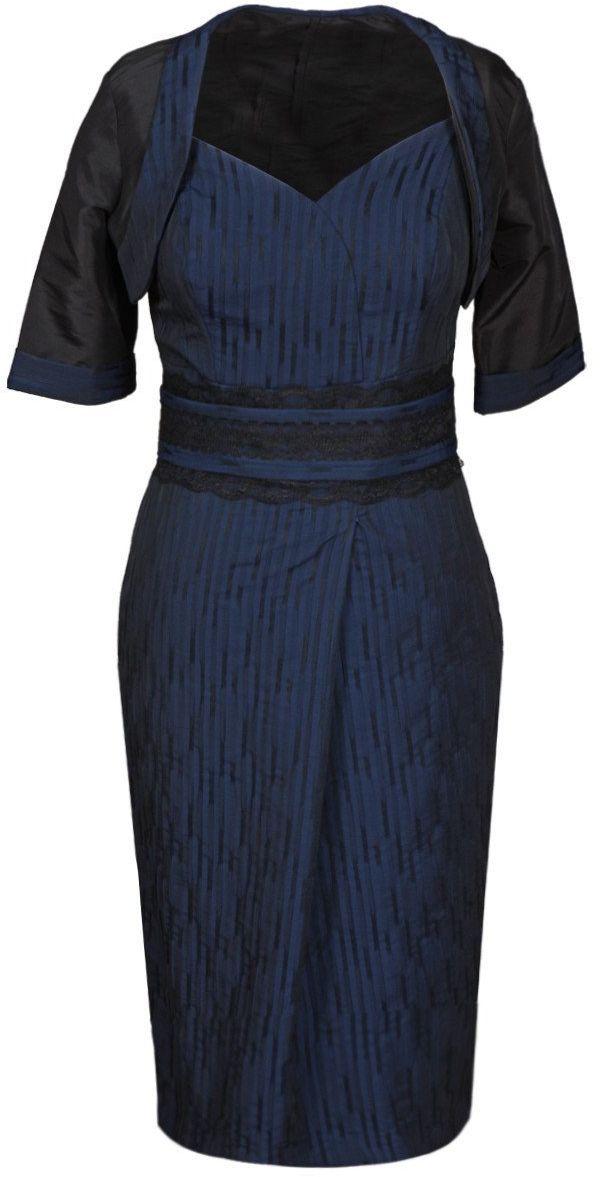Sukienka FSU193 GRANATOWY JASNY