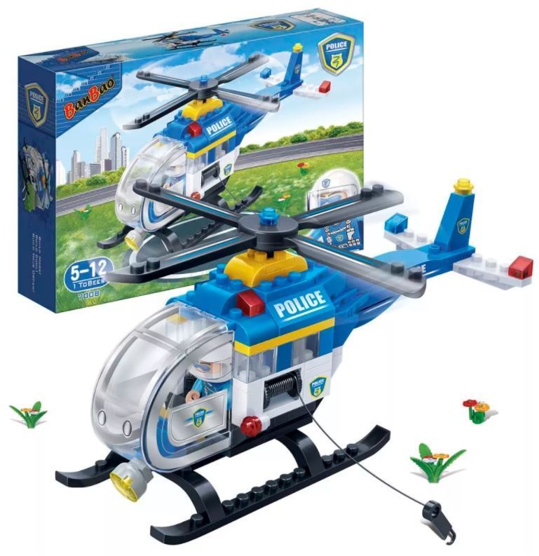 Klocki BanBao 7008 Helikopter policyjny