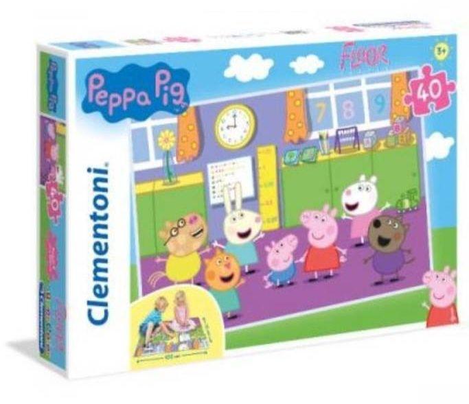 Puzzle 40 podłogowe Super Kolor Peppa Pig - Clementoni