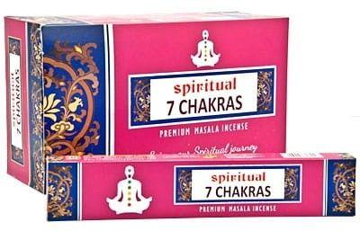 Kadzidełka 7 Chakras Czakra Pyłkowe Spiritual 15g