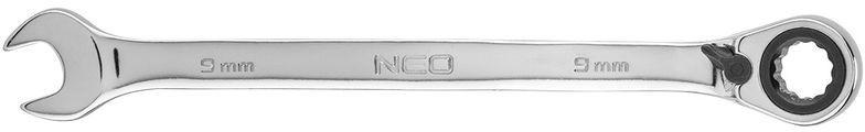 Klucz płasko-oczkowy z grzechotką i przełącznikiem 9mm 09-321
