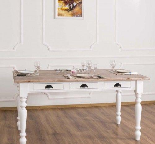 Stół z szufladami 160x90