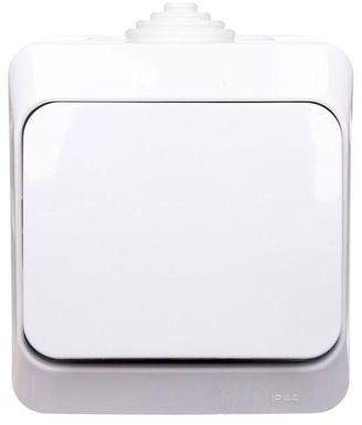 Cedar Plus Łącznik hermetyczny natynkowy jednobiegunowy 16AX IP44 biały WNt-100YF WDE000510