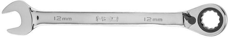 Klucz płasko-oczkowy z grzechotką i przełącznikiem 12mm 09-324