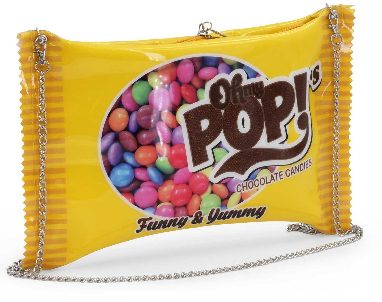 Oh My Pop Pop! Chococandy-Chain Shoulder Bag torba na ramię, 34 cm, żółta (Yellow)
