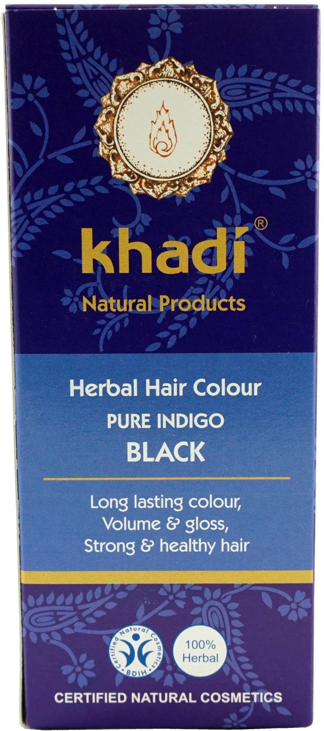 Naturalna indyjska henna - indygo - 100g - Khadi