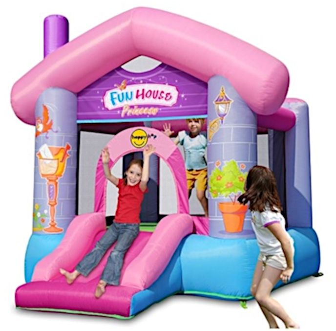 Dmuchany domek Happy Hop - Fun House - różowy