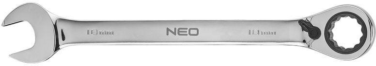 Klucz płasko-oczkowy z grzechotką i przełącznikiem 18mm 09-330