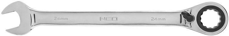 Klucz płasko-oczkowy z grzechotką i przełącznikiem 24mm 09-336