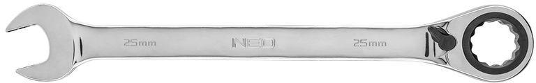 Klucz płasko-oczkowy z grzechotką i przełącznikiem 25mm 09-337