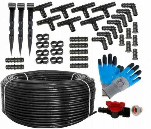 Linia kroplująca 100m + 137 akcesoriów +rękawiczki
