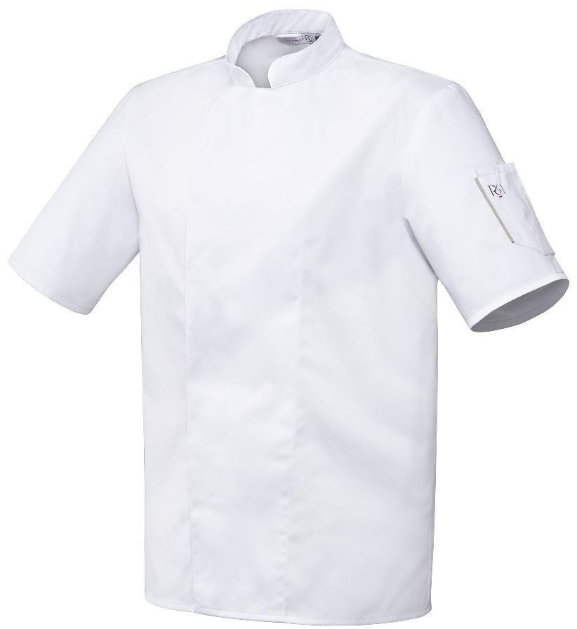Bluza kucharska Nero biała krótki rękaw M