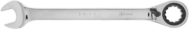 Klucz płasko-oczkowy z grzechotką i przełącznikiem 32mm 09-342