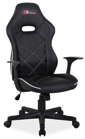 Fotel biurowy BOXTER czarny/biały do komputera kubełkowy  KUP TERAZ - OTRZYMAJ RABAT