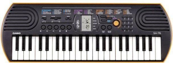 CASIO SA-76 pomarańczowy - keyboard Gwarancja 5 lat + instrukcja pl