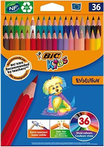 Kredki ołówkowe BIC Evolution 36 kolorów 950526