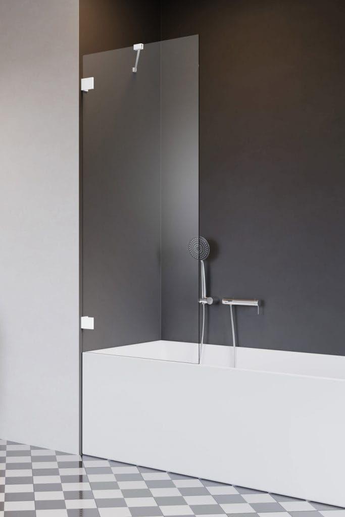 Radaway ESSENZA PRO White PNJ II parawan nawannowy 50 cm, wys. 150 cm szkło przejrzyste 10101050-04-01