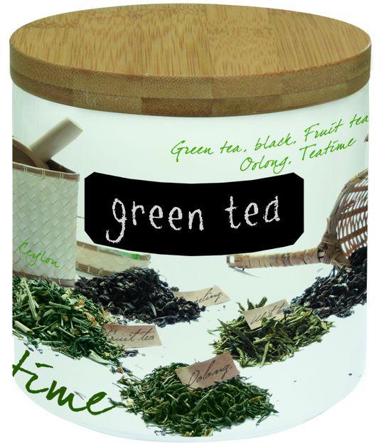 PORCELANOWY POJEMNIK NA HERBATĘ 500 g - Tea - R2S Mediterraneo (751 TEA)