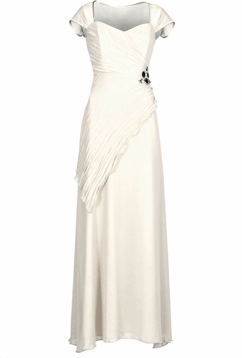 Sukienki Sukienka Suknie FSU167 EKRI
