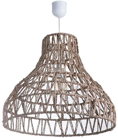 Lussiol 250293 lampa wisząca, rattan, 60 W, biała, ø 49 x wys. 42 cm