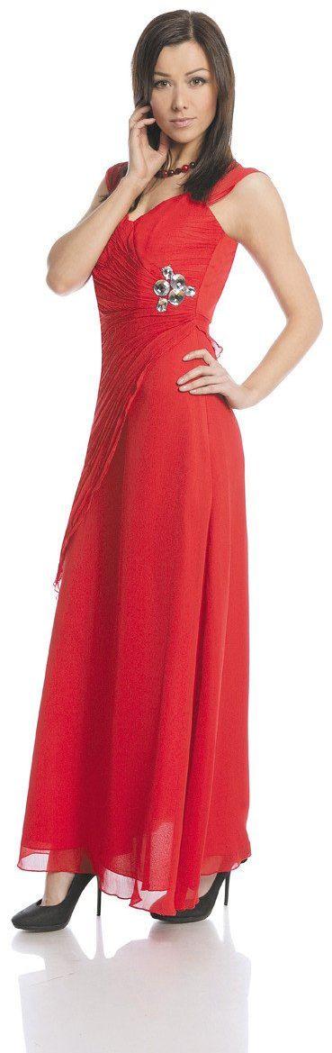 Sukienki Sukienka Suknie FSU167 CZERWONY