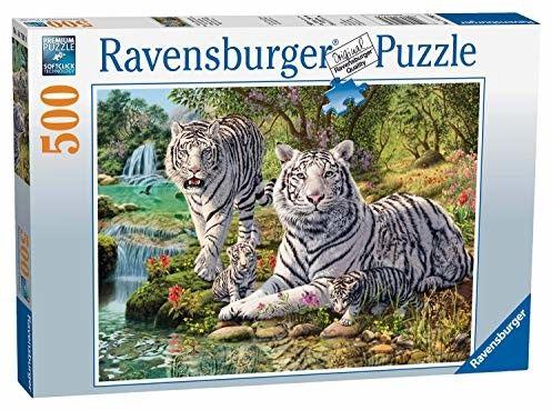 Puzzle Raven 500 - White Tigers, Białe Tygrysy
